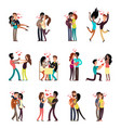 happy young interracial couples in love vector image