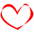 heart line imitation moebius strip vector image vector image