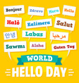 hello day concept background flat style vector image