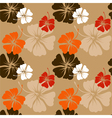 Hibiscus pattern in beige