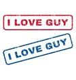 I Love Guy Rubber Stamps vector image vector image