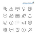 information and notification line icons editable vector image