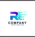 letter r gradient logo design vector image vector image