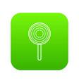 lollipop icon green vector image vector image