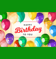 low poly happy birthday greeting card template vector image