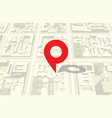 map of the city and the sign of location vector image vector image