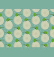 melon whole seamless pattern on green background vector image vector image