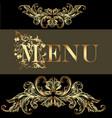 menu design in vintage style vector image vector image