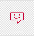 message icon sms icon on transparent background vector image vector image