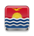 Metal icon of Kiribati vector image vector image