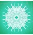Modern mandala or snowflake design on aqua green vector image vector image