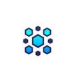nanoparticles logo vector image
