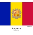 National flag of Andorra with correct proportions vector image vector image