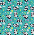 pandas pattern vector image vector image
