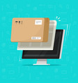 parcel delivery tracking on computer vector image vector image