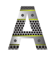 perforated metal letter A vector image vector image