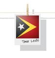 photo of timor leste flag on white background vector image