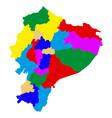 political map of ecuador vector image vector image