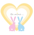 Rabbits in the heart vector image