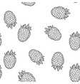 raspberry isolated berry seamless pattern vector image vector image