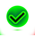 realistic green checkmark icon tick symbol in vector image vector image