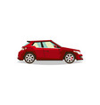 red car roadster side view transport for travel vector image vector image