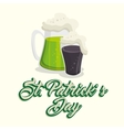 saint patrick day green beer vector image