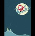 santa before parachute jump vector image vector image