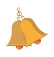 school bells chain hang alarm icon vector image