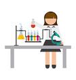scientific woman vector image vector image