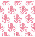 seamless pattern with color octopuses cute vector image vector image