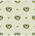 seamless pattern with hearts from watercolor blurs vector image vector image