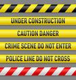 Set of danger tapes vector image