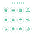Set of logistic and shipping icons in flat style vector image vector image