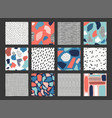 set with abstract pattern vector image