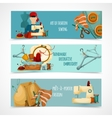 Sewing Banner Set vector image vector image