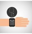 smartwatch device health stethoscope vector image vector image