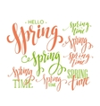 Spring Time Hello Spring lettering set vector image vector image