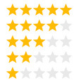 star rank background vector image vector image