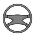 steering wheelcar single icon in monochrome style vector image vector image