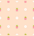 strawberry pink and peach color seamless pattern vector image vector image