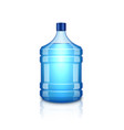 water bottle large plastic big blue vector image