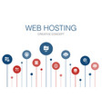 web hosting infographic 10 steps templatedomain vector image vector image