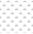 white baseball cap back pattern seamless vector image