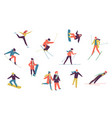 winter sport people including ice skater vector image