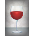 isolated red wine glass with mystic abstract vector image
