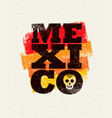 mexico background creative grunge texture vector image