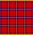 red blue yellow tartan seamless background vector image