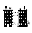 building silhouette vector image