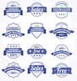 premium quality sales free labels with retro vector image